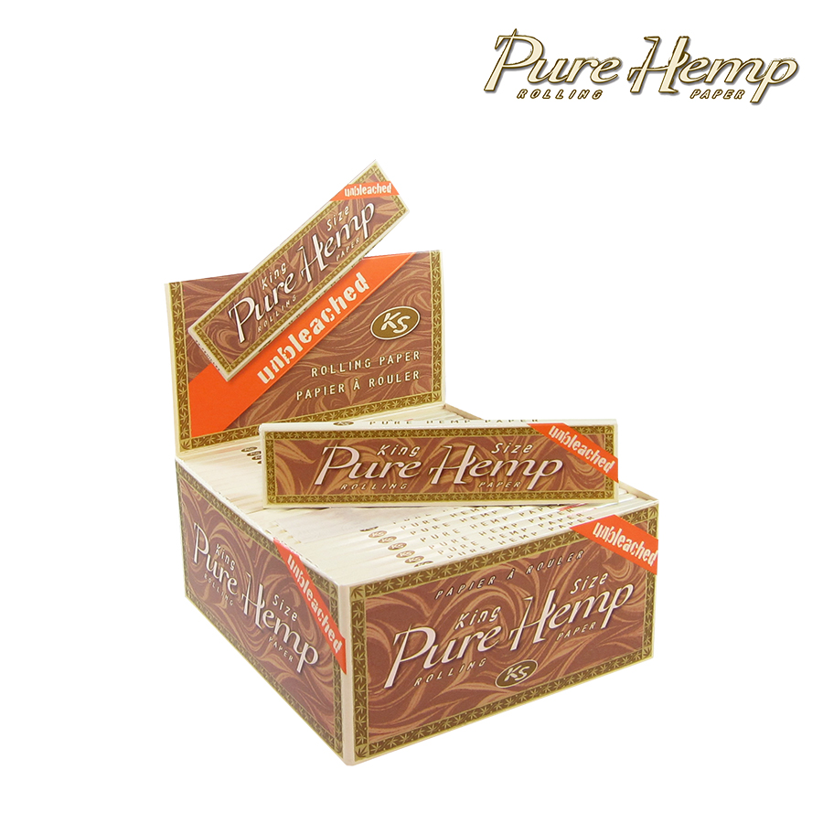 50 PURE HEMP King Size Eco Tree Free Rolling Papers