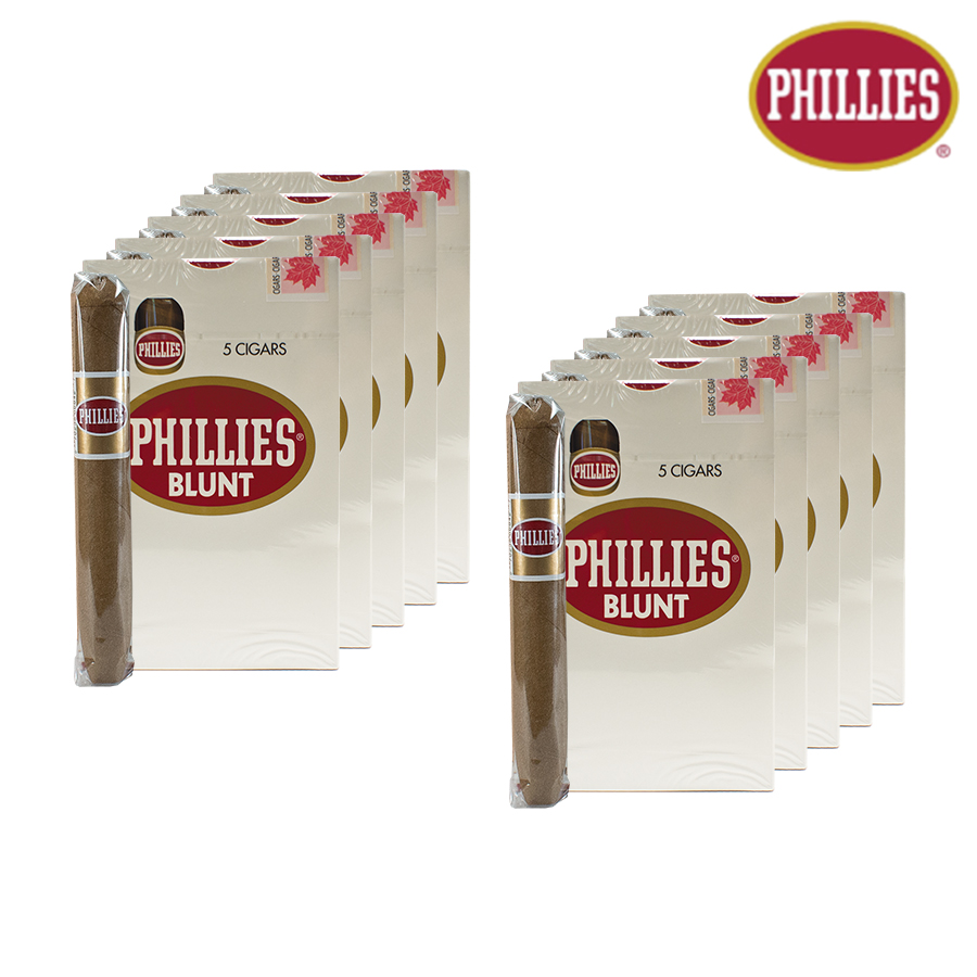 PHILLIES BLUNTS - 5X10 PACKS - NATURAL FLAVOR - HBI Canada