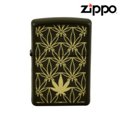ZIPPO LIGHTER - GREEN LEAF ALL AROUND LASER